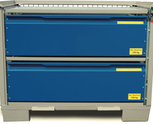 System-Gitterbox SGB - Mit 2 Schubladen