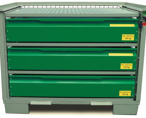 System-Gitterbox SGB - Mit 3 Schubladen