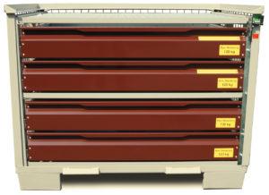 System-Gitterbox SGB - Mit 4 Schubladen und Sonderlackierung
