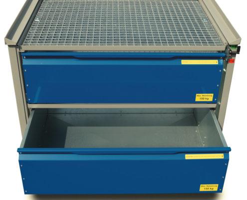 System-Gitterbox SGB - Ausführung Standard 2 Schubladen