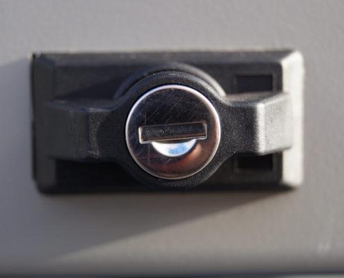 System-Gitterbox SGB - Schließmechanismus
