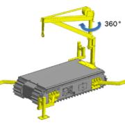 Movex Track-O Option tragbarer Auslegerkran 121,92 cm 227 kg