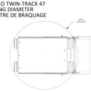 Movex modulares Treppensteiger Raupensystem Track-O Twin-Track 47 Wendekreis