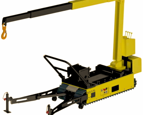Track-O Mini Crawler Crane M7 auf Track-O Twin-Track 66