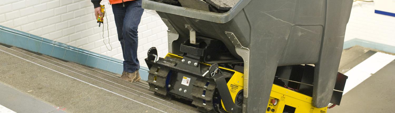 Track-O Greengo - Hydraulische Hebevorrichtung mit Müllkipper