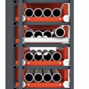 Kassettenschubfachregal, geschlossener Vorbau, Ansicht Rechts