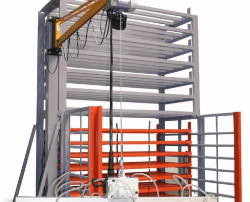 Schubfachregal für Bleche - Kompaktsystem