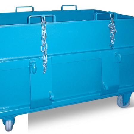 Klappbodenbehälter mit Adapterblech nach Kundenwunsch