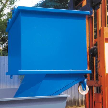 Klappbodenbehälter mit Zentrierwänden