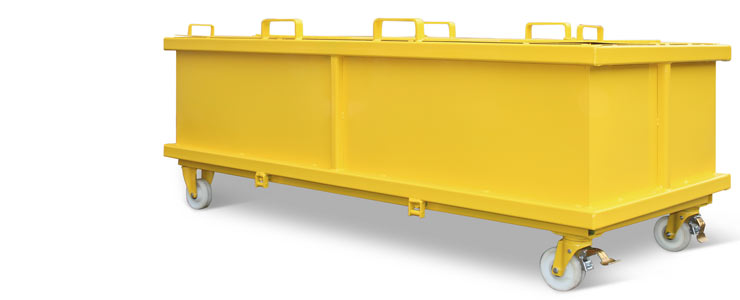 Klappbodenbehälter, verstärkte Ausführung mit Deckel