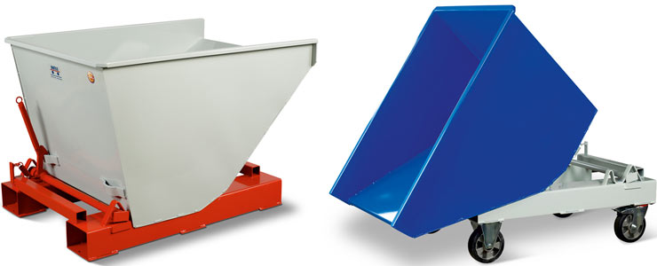 Bartels self-tipping skip light
