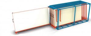 Bartels Tafelregal mit vertikalem Auszug